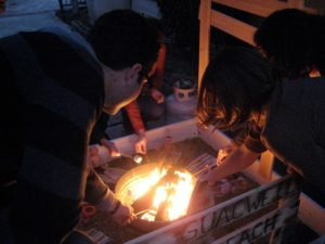 And after the party, friends roast marshmallows to celebrate it's victory!