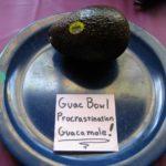 Guac Bowl Procrastination Guacamole.